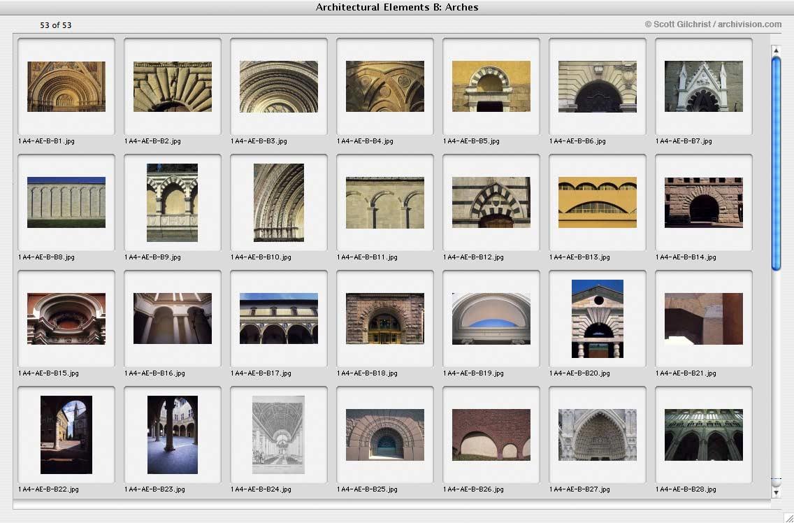 A r c h i v i s i o n online catalogue for Architectural design elements